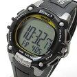 Timex (タイメックス) T5E231 IRONMAN 100-LAP/アイアンマン 100ラップ デジタル ラバーベルト ブラック×シルバー メンズウォッチ 腕時計