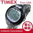 Timex (タイメックス) T5K187 IRONMAN Pulse Calculator/アイアンマン パルス カリキュレーター デジタル ラバーベルト ブラック×パープル レディースウォッチ 腕時計
