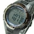 TIMEX (タイメックス) T5K359 Marathon/マラソン デジタル ラバーベルト ブラック×ブルー メンズウォッチ 腕時計