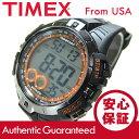 Timex (タイメックス) T5K801 Marathon/マラソン デジタル ラバーベルト ブラック×シルバー メンズウォッチ 腕時計