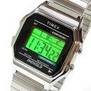 Timex (タイメックス) T78582 デジタル 蛇腹ベルト T78587のUS XLサイズベルト シルバー ユニセックスウォッチ 腕時計 【あす楽対応】