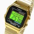 Timex (タイメックス) T78677 デジタル 蛇腹ベルト ゴールド ユニセックスウォッチ 腕時計
