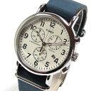 TIMEX (タイメックス) TW2P62100 Weekender/ウィークエンダー セントラルパーク クロノグラフ ミリタリー レザーベルト ブルーダイアル メンズウォッチ 腕時計 【あす楽対応】