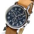 TIMEX (タイメックス) TW2P62300 Weekender/ウィークエンダー セントラルパーク クロノグラフ ミリタリー レザーベルト ブルーダイアル メンズウォッチ 腕時計