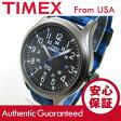 Timex (タイメックス) TW4B02100 Expedition/エクスペディション ナイロンベルト ブラック×ブルー チェック メンズウォッチ 腕時計