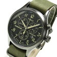 Timex (タイメックス) TW4B04100 Expedition Scout/エクスペディション スカウト クロノグラフ レザーベルト カーキー メンズウォッチ 腕時計