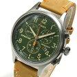 Timex (タイメックス) TW4B04400 Expedition Scout/エクスペディション スカウト クロノグラフ レザーベルト グリーンダイアル メンズウォッチ 腕時計 【あす楽対応】