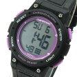 Timex (タイメックス) TW5K84700 Mid-Size Marathon/ミッドサイズ マラソン デジタル ラバーベルト ブラック×パープル メンズウォッチ 腕時計 【あす楽対応】
