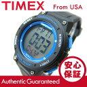 Timex (タイメックス) TW5K84800 Mid-Size Marathon/ミッドサイズ マラソン デジタル ラバーベルト ブラック×ブルー メンズウォッチ 腕時計 【あす楽対応】