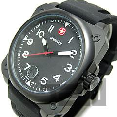WENGER(ウェンガー) 72424 AEROGRAPH Cockpit/エアログラフ コックピット ブラック ミリタリー メンズウォッチ 腕時計 【無料ラッピング・弊社一年保証】