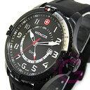 WENGER(ウェンガー) 77073 SQUADORN/スクアドロン GMT PVD ラバーベルト パイロット メンズウォッチ 腕時計