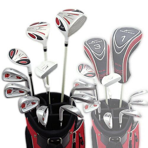 ワールドイーグル 5Z-WHITE メンズゴルフクラブ14点フルセット 4色から選べるバッグ!  右用】 【最安値に挑戦】【送料無料】【】