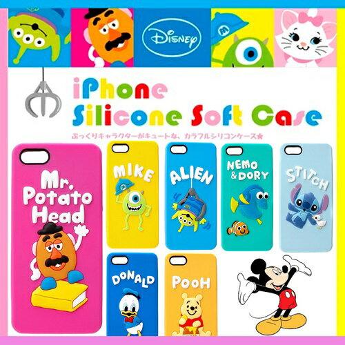 ディズニー iPhoneSE iPhone5s iPhone5 シリコンケースソフトカバー DisneyPGDCS086TOY-091POO 085LGMiPhone SE iPhone 5s iPhone 5ポテトヘッド ニモ ドリー スティッチ エイリアン マイクドナルドダック くまのプーさん トイストーリー