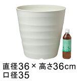 【おしゃれな植木鉢】フレグラーポット 36cm アイボリー【鉢カバー】