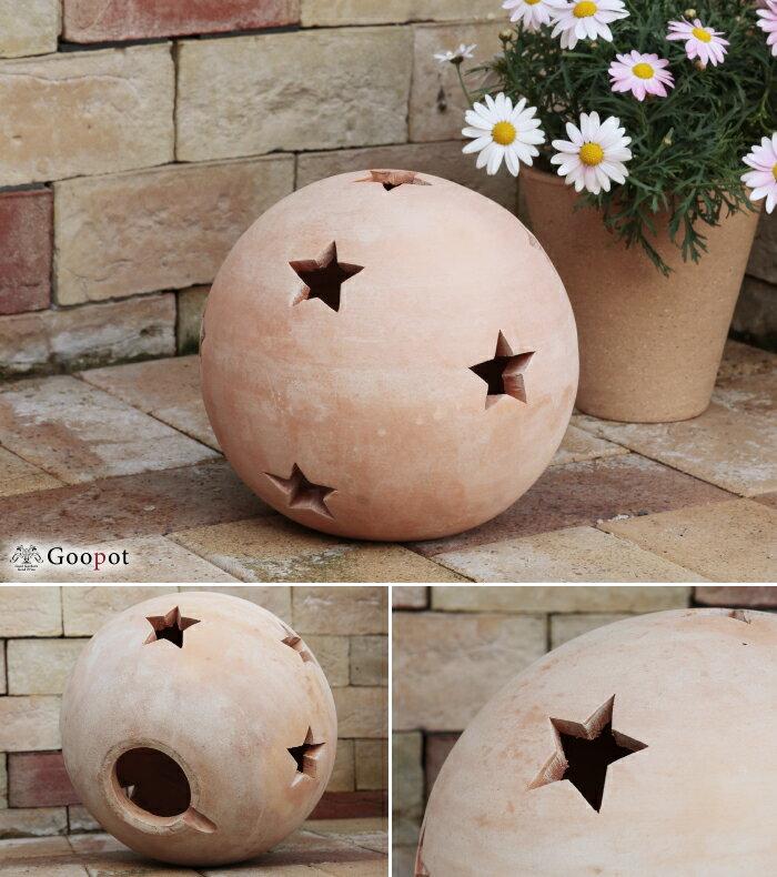 星柄 ボール型 HM 白粉 素焼き テラコッタ...の紹介画像2