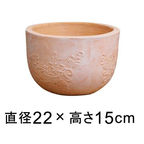 サンタフェボール素焼き鉢 テラコッタ 鉢 小 22cm おしゃれ 植木鉢 05P26Mar16