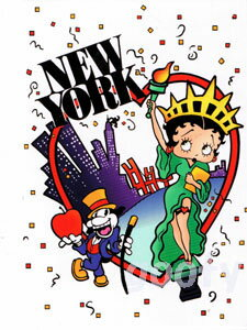 Betty Boop betty boop picture postcards cute postcards NEW YORK, NES YORK New York New York