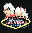 ベティー ブープ betty boop黒地 Tシャツ WELCOME LAS VEGAS レビュー ユニセックス M/L/XL【楽ギフ_包装】