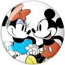 ミッキーマウス ミニーマウスMICKEYMOUSE MINNIEMOUSEアンティークフェイス 缶バッチloungefly ラウンジフライ