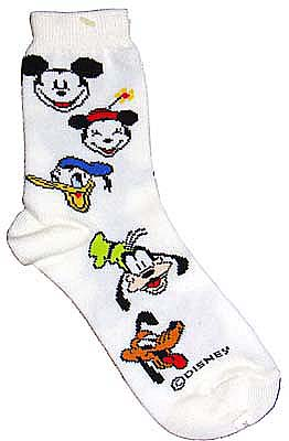 Mickey Mouse all star kids crew socks Mickey Minnie Donald goofy Pluto 15-20 cm