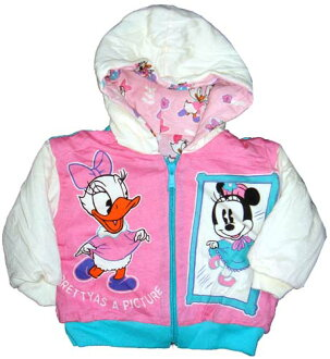 Girls baby baby Mickey baby mini ベビーデイジー リバーシブルジャンバー