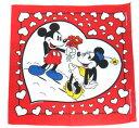 ディズニー disneyミッキーマウス ミニーマウス デッドストック バンダナハンカチ 赤 パイカットミッキー