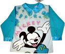 女の子用 ミッキーマウス トレーナー ブルー えりサテン2歳〜6歳用(90〜120)