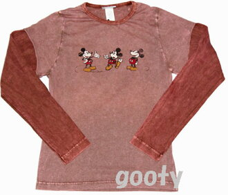 Mickey Mouse パイカットアイ vintage cutting long sleeve T shirt Disney