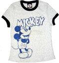 ミッキーマウスMickey Mouse グレーTシャツ