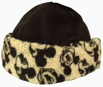JR size Mickey Mouse fleece fur hat knit Cap