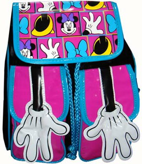 Minnie Mouse 2 Pocket hand pattern backpack pink