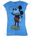 ミッキーマウス パイカットmickey mouse tee半そでTシャツ(ピタT)ヴィンテージスタイル