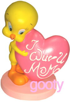 Tweety TWEETY mothersday (mother's day) PVC figure figurine heart