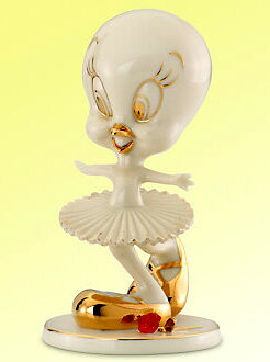 Tweety tweety pottery Figure 24 K color Tweety ballerina TWEETY Tip Toe Dance