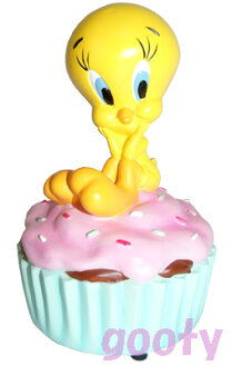 Tweety tweety resin figure cupcake music box figurines You are my Sunshine!