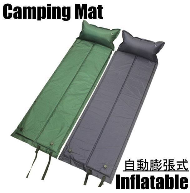 【あす楽対応】 キャンピングマット シングルサイズ 自動膨張式 マット 寝袋マット エアマ…...:gorilla55:10001354