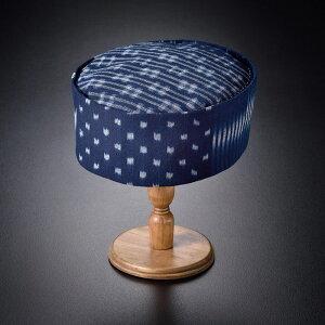 利休帽 備後絣藍染「6種の絣」利休帽 りきゅうぼう 茶道 茶人 帽子