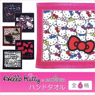 50%的折扣出售凱蒂貓 Hello Kitty 毛巾特價 Hello Kitty 手毛巾 HKHT 6 圖案毛巾出售夏季生活提出了樂天框收到產品日本有限的銷售禮物