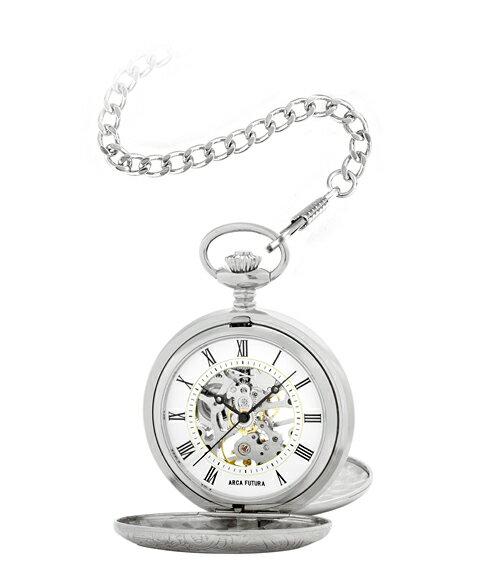 アルカフトゥーラ メカニカル スケルトン ポケット 56523CPWSK 懐中時計 ARCAFUTURA