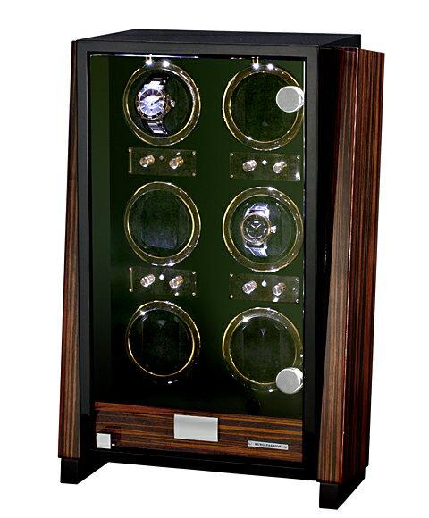 予約販売(納期約3-4ヶ月)ユーロパッション ウォッチワインディング ボックス アダプター付 FWD-6101EB  ※時計は含まれておりませんEURO PASSION WATCH WINDER ウォッチワインダー