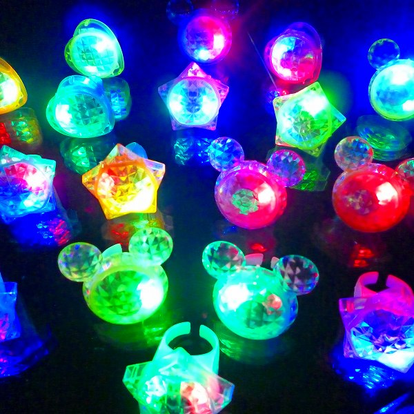 【光るおもちゃ/光り物玩具】☆★光るダイヤモンドゆびわ★☆光る 指輪 光る指輪 光るおもち…...:gosunwood:10000160