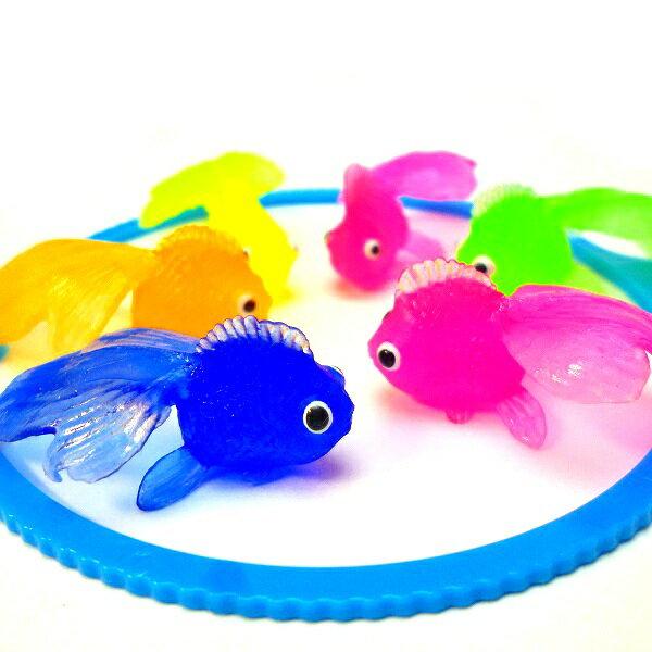 やわらかミニきんぎょ100個入り【縁日すくい 縁日 景品 お祭り 夏祭り 金魚すくい 水に…...:gosunwood:10000026