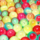 スーパーボールフルーツ27mm100個入り{スーパーボール すくい すくいどり 縁日 お祭り 景品 玩具 オモチャ おもちゃ どうぶつ 浮く}