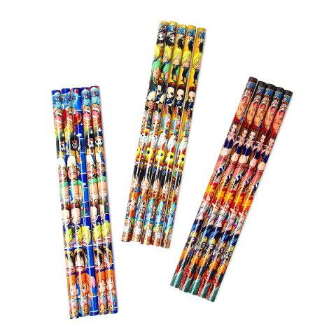 ワンピース 5本入鉛筆【ご注文単位は必ず25個単位でお願いします】 ワンピース ルフィー 文房具 文具 子供会 幼稚園