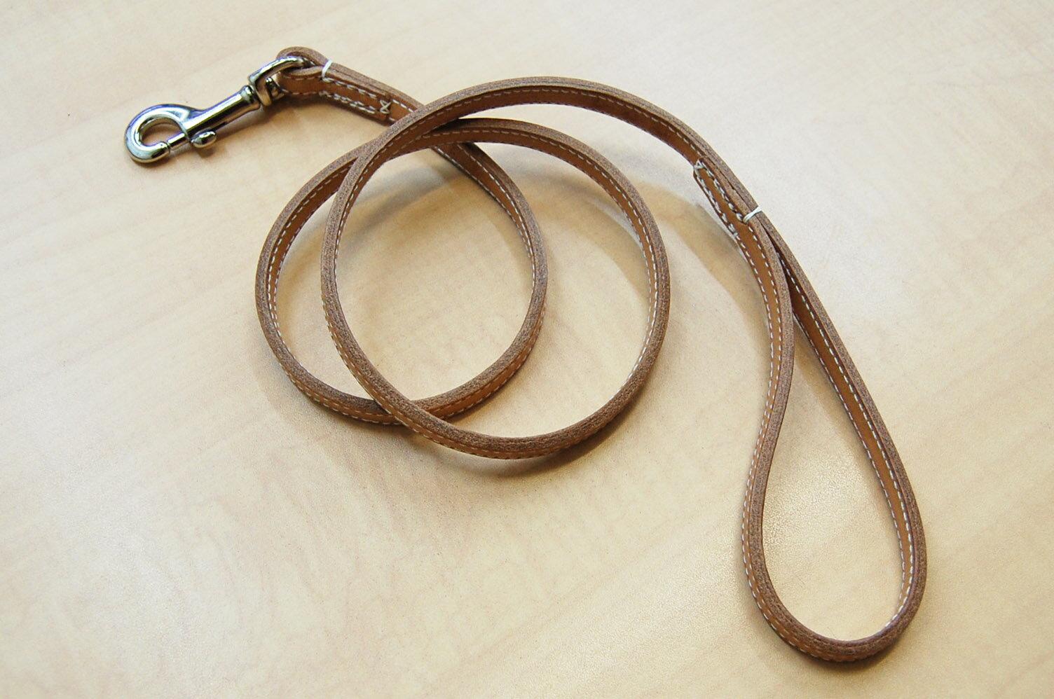【送料無料】犬用 リード スタッズ(革幅:約12m/m 長さ:約110cm)【馬具職人ハンドメイド】
