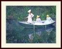モネ・「ピンズ ジヴェルニーの小舟」