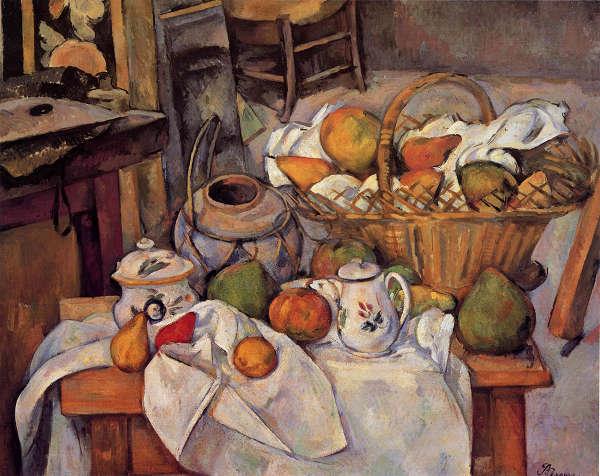 「果物籠のある静物」(現品限り)   ポール・セザンヌ   アトリエ・ブランカ