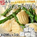 訳あり イカの小切れ アカイカ端材・切り落とし 1キロ(200g×5袋)※冷凍【冷凍同梱