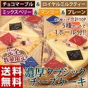 ナチュラル クラシックチーズケーキ プレーン マーブル マンゴー ミックス