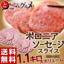 ≪送料無料≫ボロニアソーセージ 大ボリューム (25g×45枚) ※冷凍☆